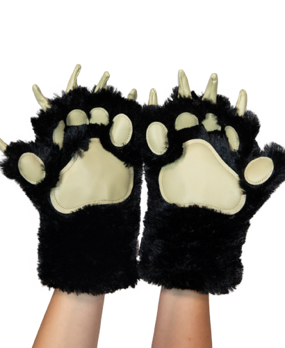 LazyOne® Black Bear Paw Mitts